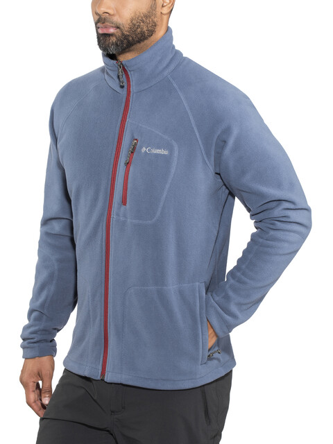 Columbia Fast Trek II Full Zip Fleece Jacket Men Dark Mountain/Red Element